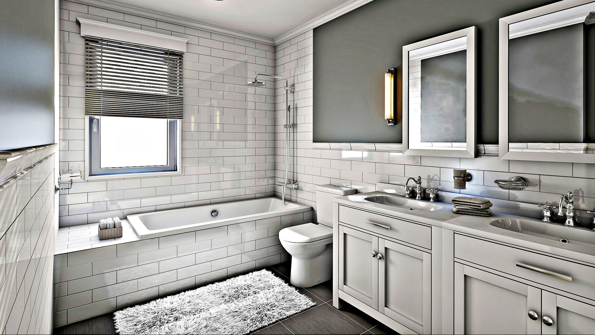 Remodeling custom homes and home additions in charlotte for Professional bathroom renovations
